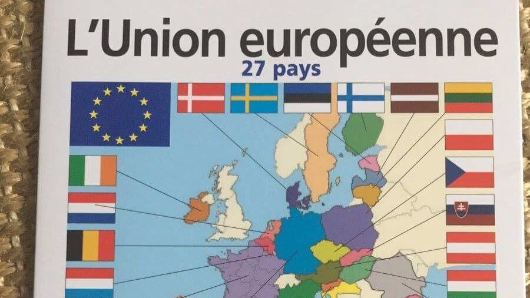 UK already removed from EU map in French school books