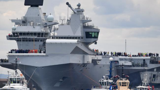 Russia says HMS Queen Elizabeth warship is a 'large convenient...