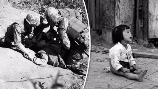 KOREAN WAR: Shocking never-seen-before pictures of horror conflict