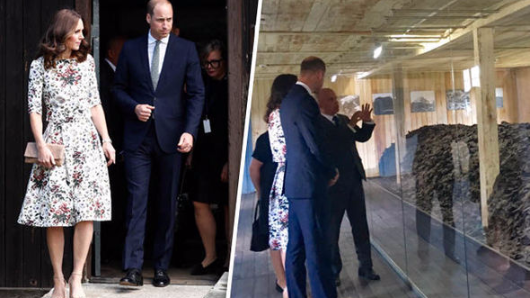 Kate and William emotional as they meet Nazi concentration camp survivors in Poland