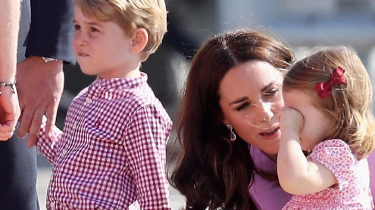 Princess Charlotte throws herself to the tarmac