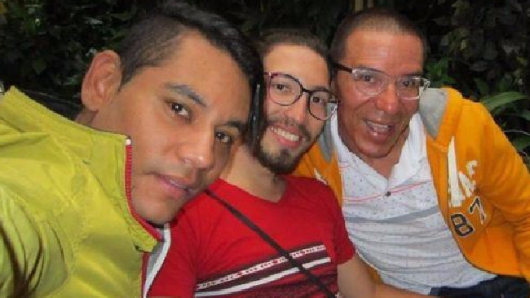 Gay trio's modern family recognised