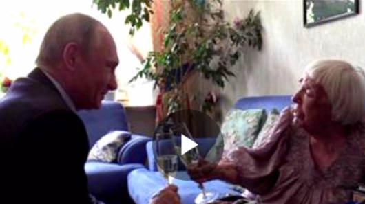 Human rights leader gets surprise birthday visit from Putin