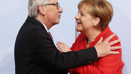EU president's press conference interrupted by a phone call. It wasn't his wife