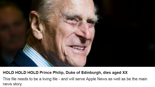 Death of Prince Philip was announced