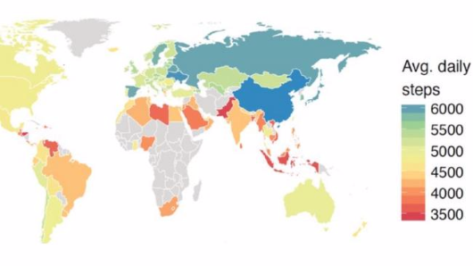 The laziest countries in the world