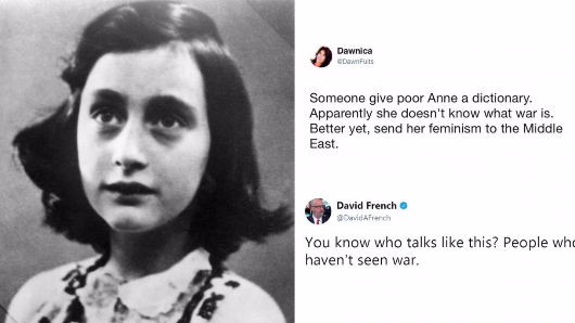 The Anne Frank Centre spoke out against war and Trump supporters were furious