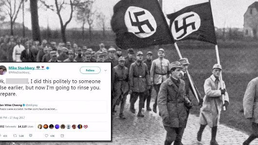 Man says Nazis were socialist, gets schooled by history writer