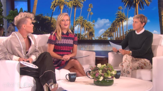 Ellen asked Reese Witherspoon and Pink the same question about sex and their responses could not have been more different
