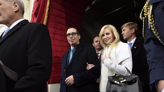 Trump's treasury secretary tried to use government jet for honeymoon