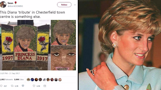 People are terrified of Chesterfield's Princess Diana 'tribute'