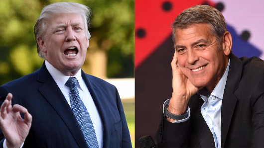 George Clooney to Donald Trump: 'F**k you'