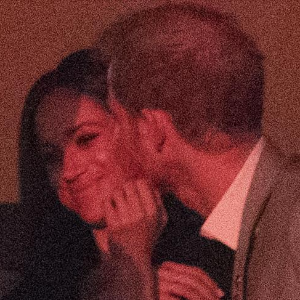 Prince Harry and Meghan's surprise kiss