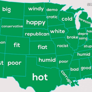 The extremely offensive Google Autocomplete map of the United States