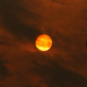 Red sun looms over UK as Storm Ophelia whips up dust from Sahara