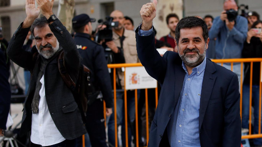 Catalan pro-independence leaders jailed amid sedition claims