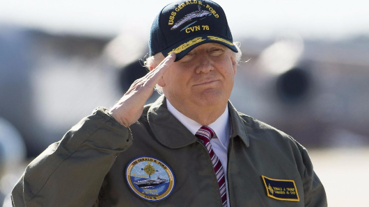 Three-quarters of Americans think Trump is going to lead them into war