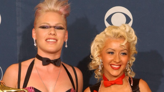 Pink recounts time former rival Christina Aguilera took a swing