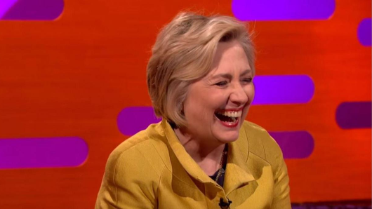 Fox News attacked Hillary Clinton for swearing on Graham Norton. They clearly haven't seen the show