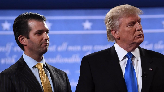 Donald Trump Jr just shared the most embarrassing picture of his dad