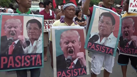 'Dump Trump' protest erupts in Manila