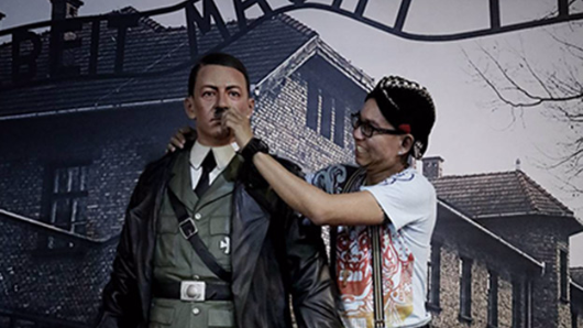 Indon wax Hitler removed after protests