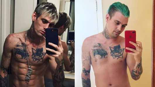 Aaron Carter reveals jaw-dropping transformation