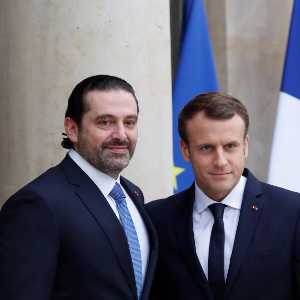Hariri in Paris for talks with Macron
