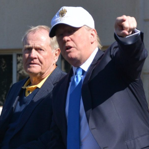 Trump spotted golfing with Jack Nicklaus
