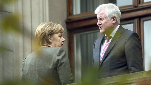 Merkel looks to 'grand coalition' with SPD