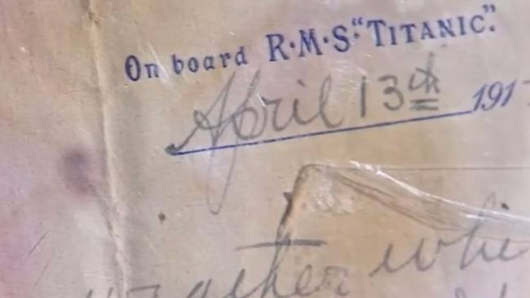 Incredible Titanic letter emerges
