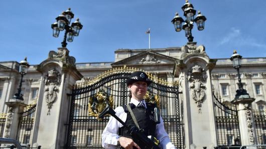 Man tries to climb Buckingham Palace wall