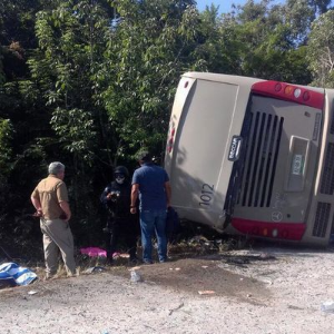 At least 12 dead in tourist bus crash