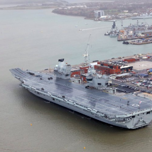 Britain's new aircraft carrier has a leak