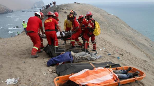 At least 48 dead, 6 injured in Peru crash