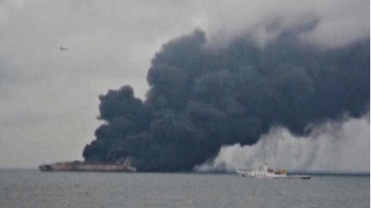 Crews wrestle to tame Iranian tanker fire