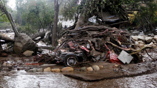 California mudslides kill 17, dozens lost