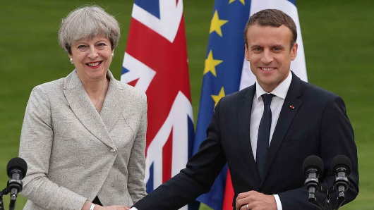 Macron makes case for UK to stay in EU