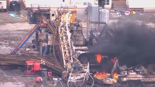 Remains of five US gas rig workers found