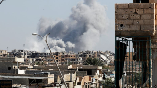 Strikes kill 150 IS militants in Syria