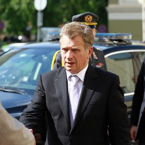 Finnish president Sauli Niinisto returned
