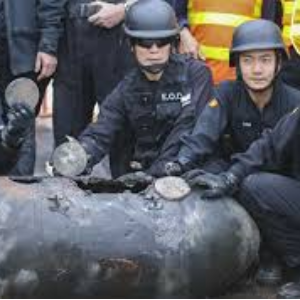 450kg WWII bomb found in Hong Kong